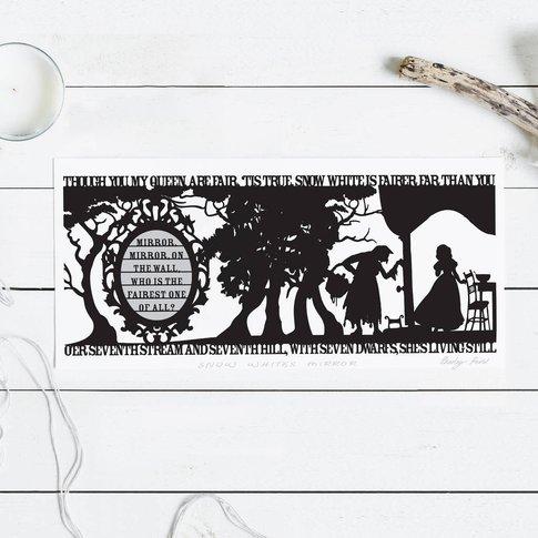 Snow White's Mirror Signed Papercut Print