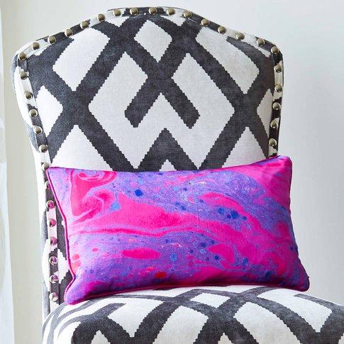 Marble Rectangular Silk Cushion