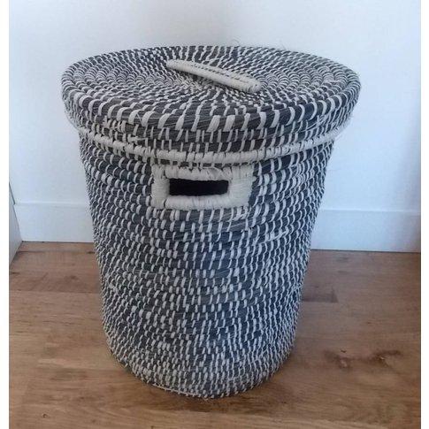 Blue Grass Laundry Basket Medium Wbg28/M, Blue