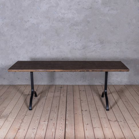 Forth Solid Wood Industrial Dining Table