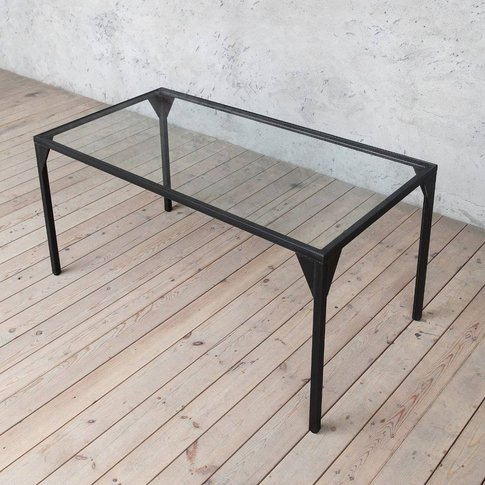 Waterloo Solid Glass Top Dining Table