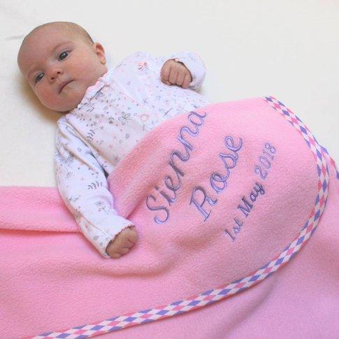 Personalised Harlequin Trim Blanket In Three Sizes, ...