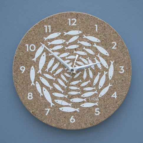Cork Fish Clock