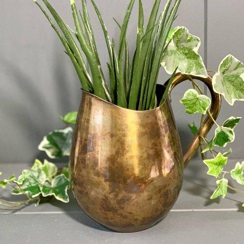 Brass Pitcher Vase