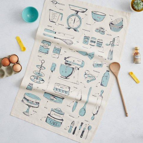 Baking Delight Tea Towel Teal