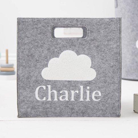 Personalised Grey Cloud Storage Cube