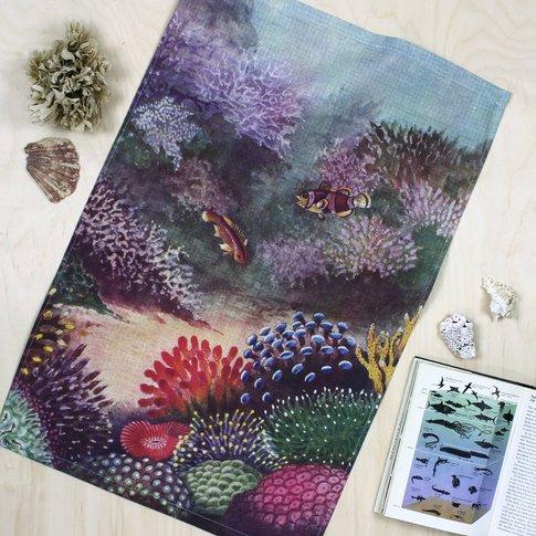 Living Corals Tea Towel