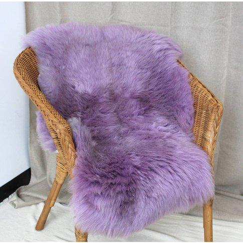 Lilac Sheepskin Rug Throw