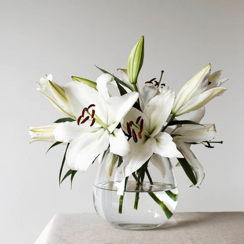 Handmade Medium Glass Vase