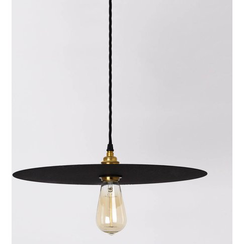 Large Black Disk Pendant Lamp