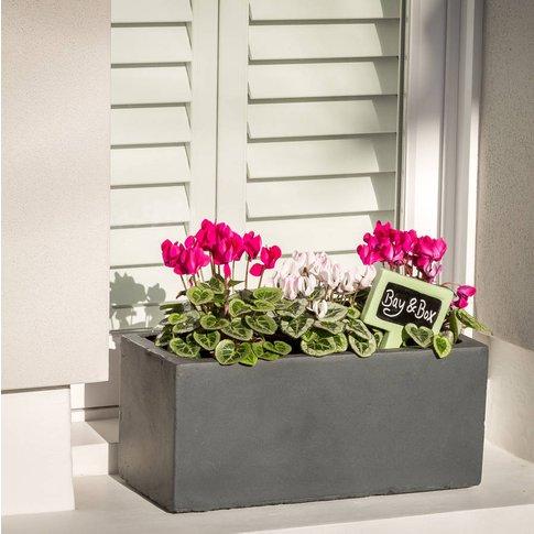 Small Window Box Planter In Hampstead Lead