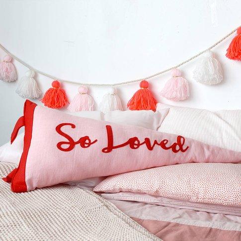 So Loved Pennant Cushion