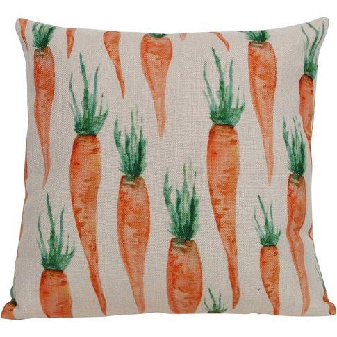 Carrot Design Fabric Cushion