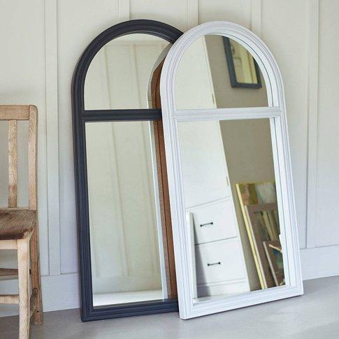 Wembury Window Mirror, Charcoal/Grey