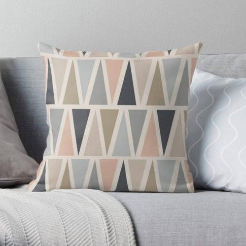 Modern Geometric Triangle Cushion