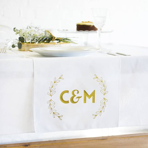 Wedding Top Table Couples Initials Table Runner