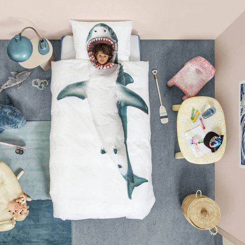 Shark Duvet Cover And Pillowcase Set