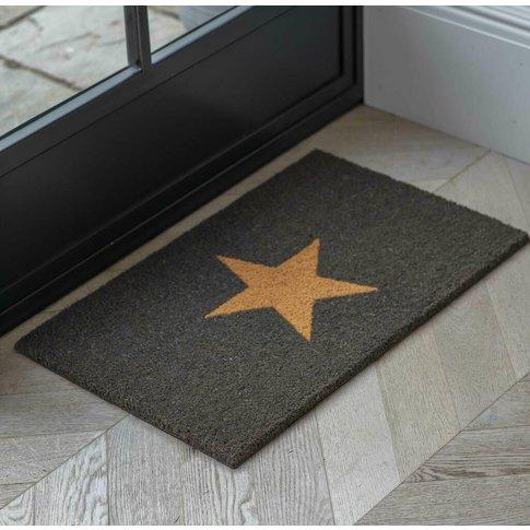 Charcoal Star Doormat, Small