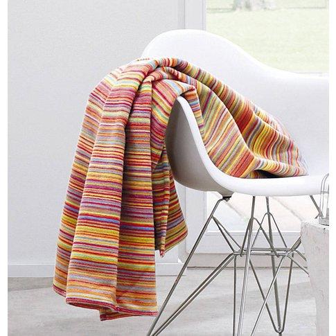 Bright Stripe Organic Cotton Throw