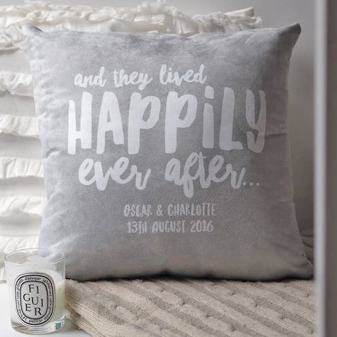 Happily Ever After Newlywed Couples Cushion