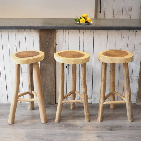 Wooden Kitchen Stool Two Sizes