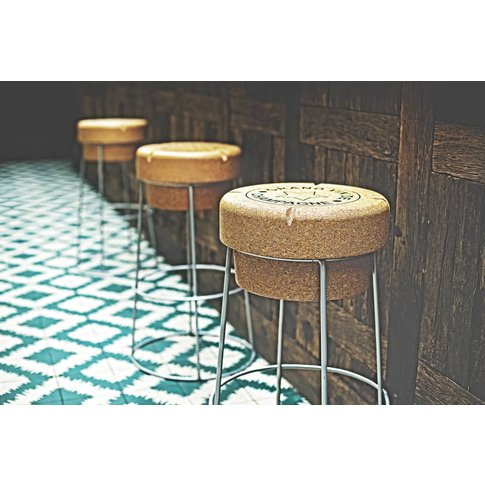 Champagne Cork Tall Bar Stool £10 Off + Free Courier...