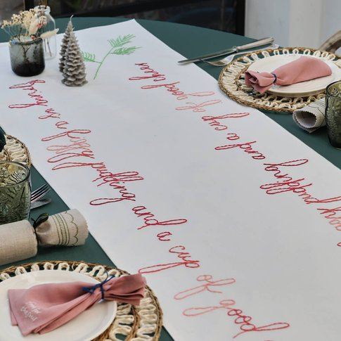 Christmas Table Runner Embroidery Kit