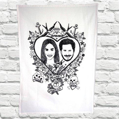 Royal Wedding Harry And Meghan Tea Towel