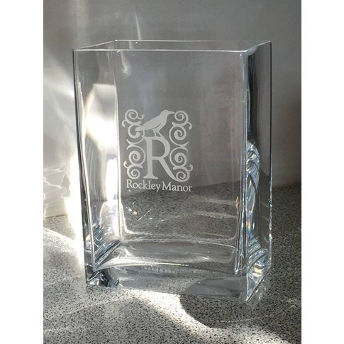Personalised Engraved Rectangle Glass Flower Vase