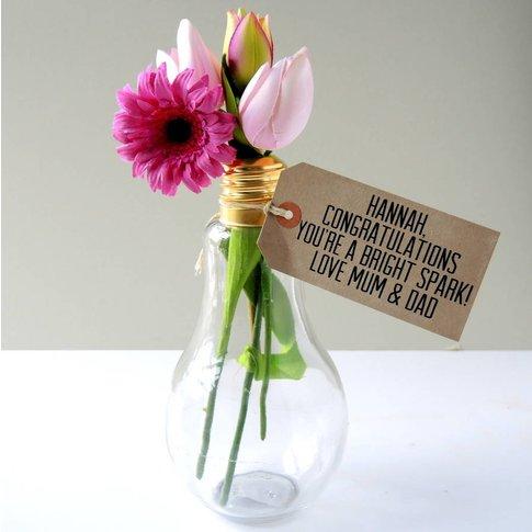 Exam Results Light Bulb Vase