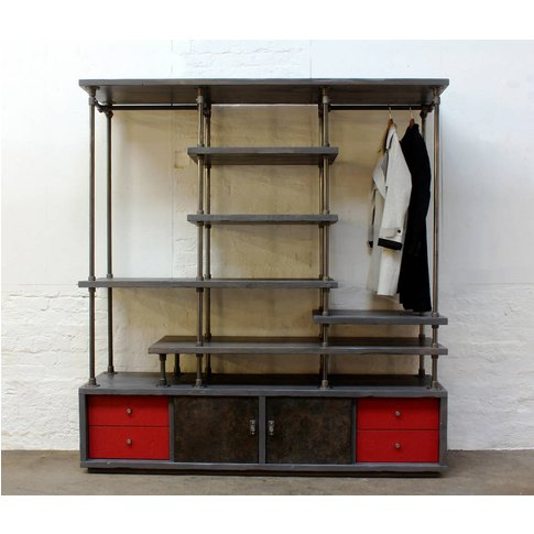 Lanz Reclaimed Wood And Steel Wardrobe