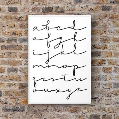 Alphabet Scribble Print