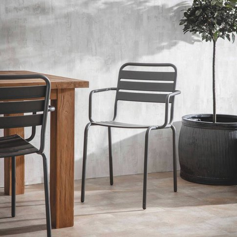 Set Of Two Charcoal Garden Chairs