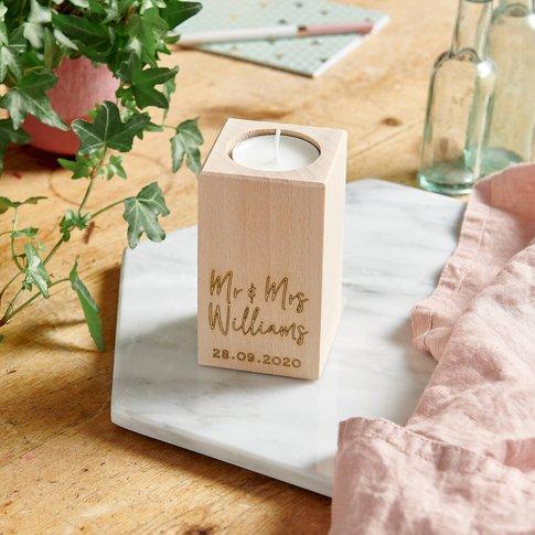 Wooden Wedding Tealight Holder