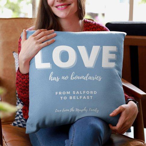 Lockdown Christmas Personalised 'Love' Cushion
