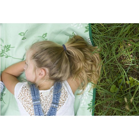 Extra Large Picnic Rug Green Flower