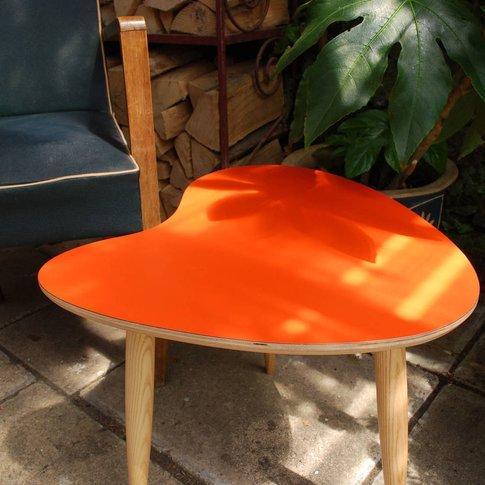 Orange Side Table, Aqua/Orange