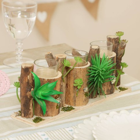 Forest Bloom Summer Table Candle Holder