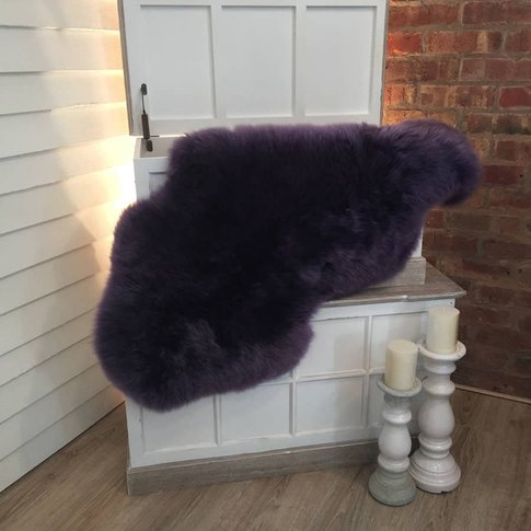 Luxury Purple Sheepskin Rugs
