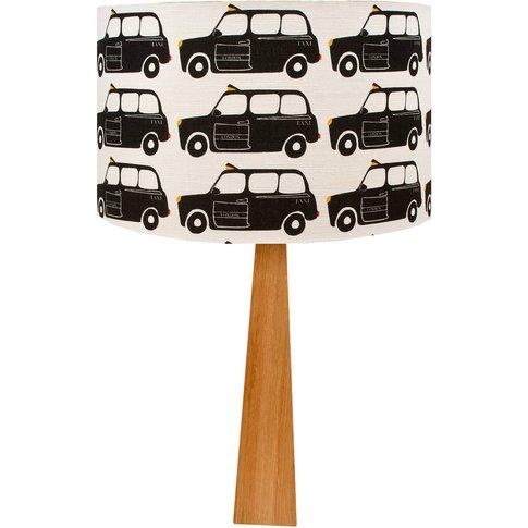 London Black Cab Wooden Table Lamp