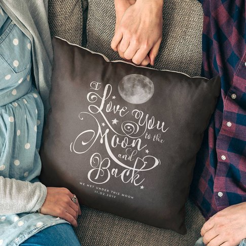 'I Love You To The Moon And Back' Personalised Cushi...