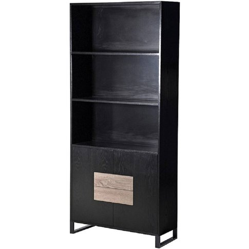 Ebony Tall Multi Storage Black Cabinet