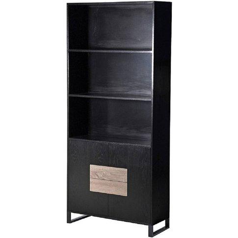 Ebony Tall Multi Storage Black Cabinet