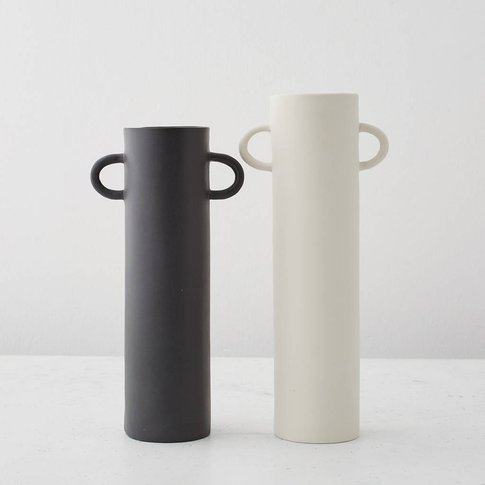 Cylindrical Vases With Handles
