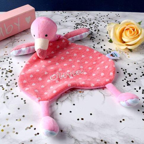 Personalised Flamingo Comforter Blanket