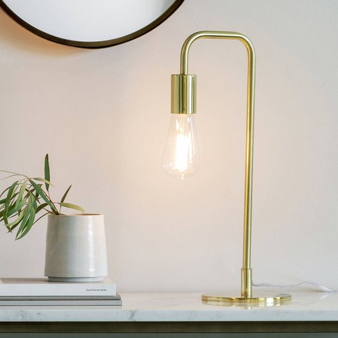 Gold Stem Desk Lamp
