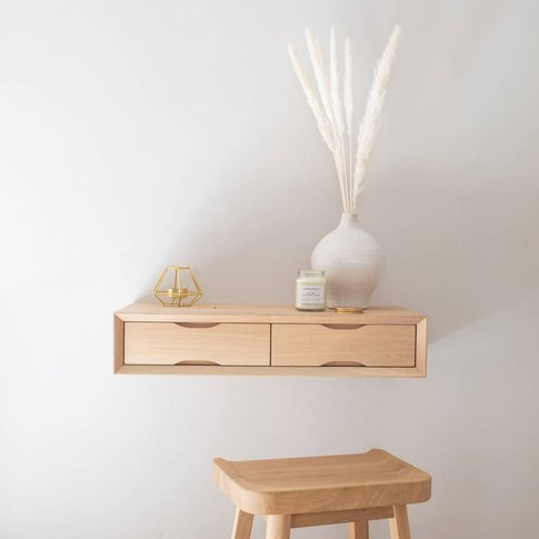 Oak Floating Dressing Table