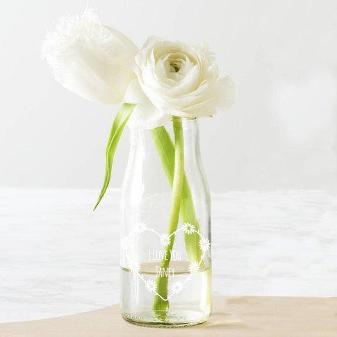 Personalised Daisy Chain Bottle Bud Vase