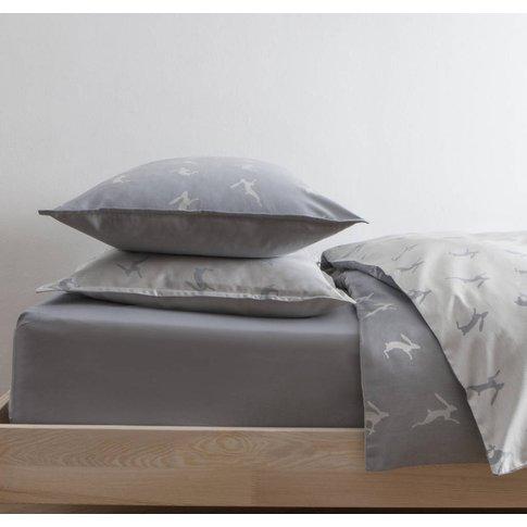 Running Hare Blue Grey Pillowcase, Blue/Grey