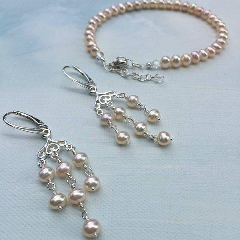 Bridal Chandelier Earring Set